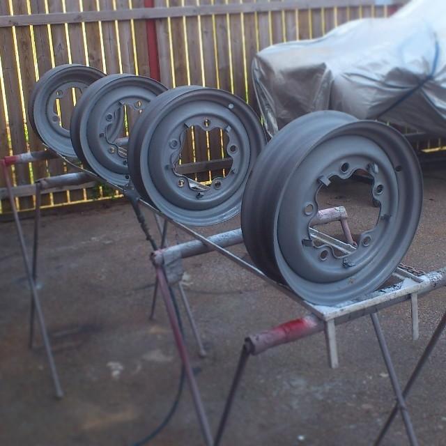 Sandblasted smoothies/widefive wheels...
