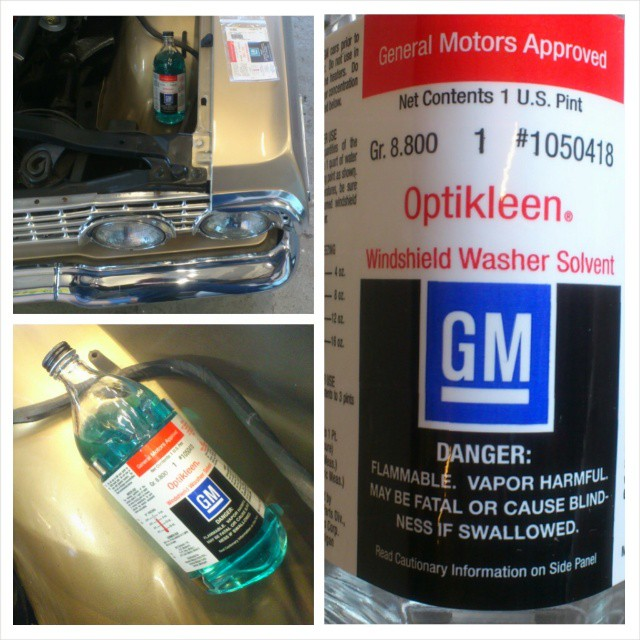 Fitted a original GM washer/glasbottle for the 63' Impala...