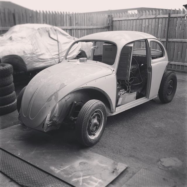 The 1958 VW Beetle waiting on getting done...