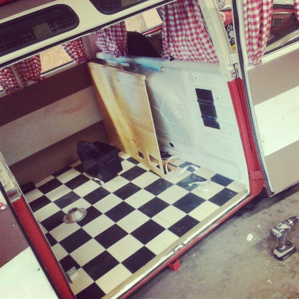 Redoing some of the interior on the bus. Making a cabinett furniture for fridge and watertap. Ala Westfalia.