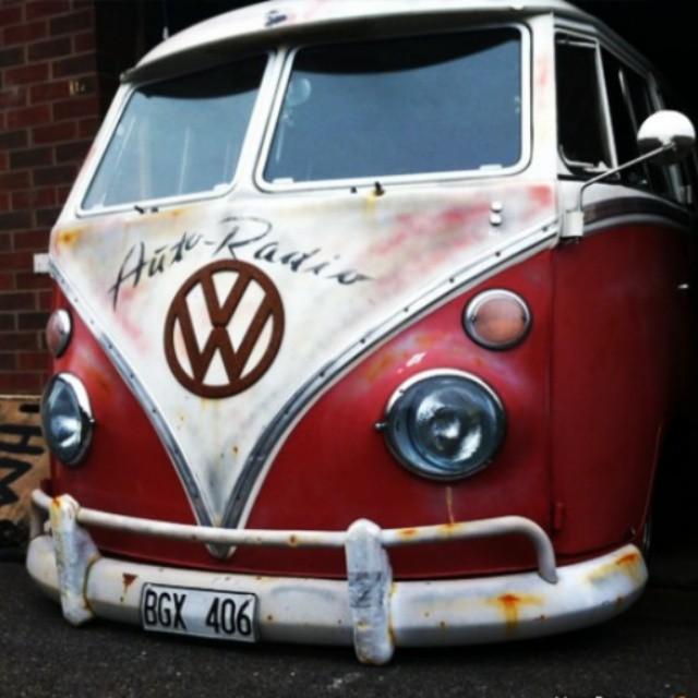My old VW splitbus, now in the UK...