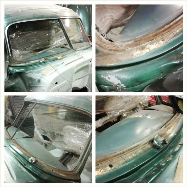 Bodywork started! 1951 Chevrolet Fleetline Deluxe lowrider project.