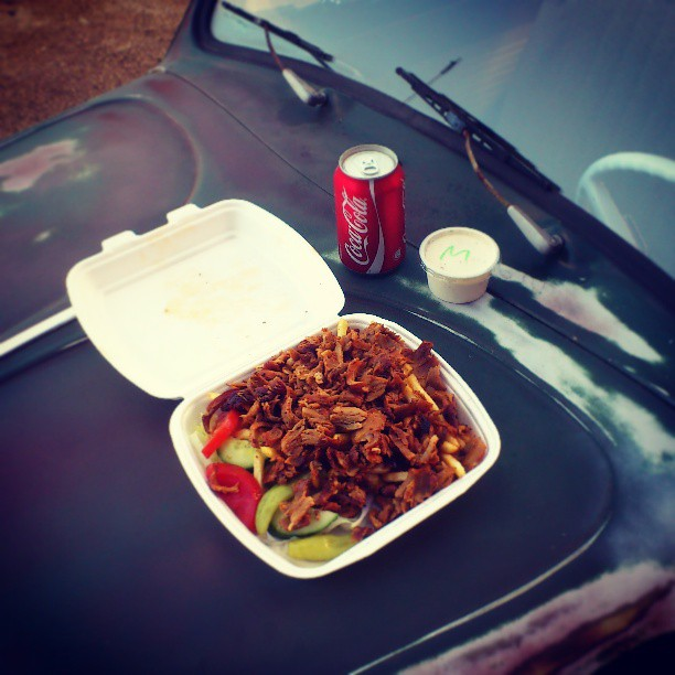 Garage food, kebab! ;)